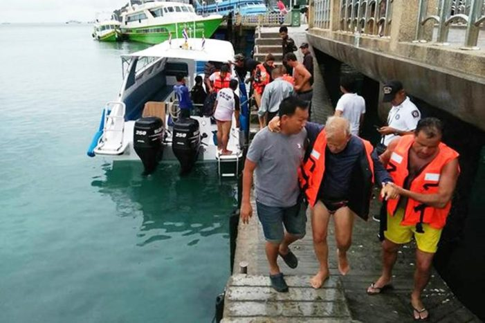 14 Spanish Tourists Rescued from Rough Seas after Charter Boats Engine Failed, Near Phi Phi Island