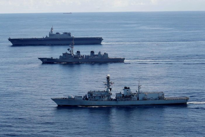 China Protests as British and Japanese Warships Heading to Contested South China Sea