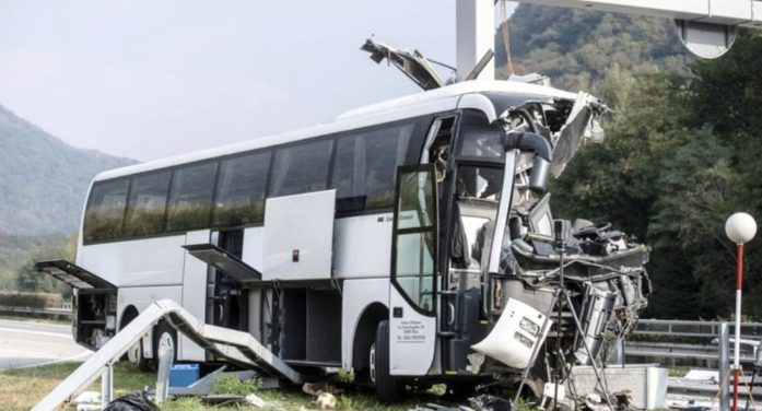 German Tourist Bus Crashes in Swiss Alps, 1 Passenger Dead, 14 Others Injured