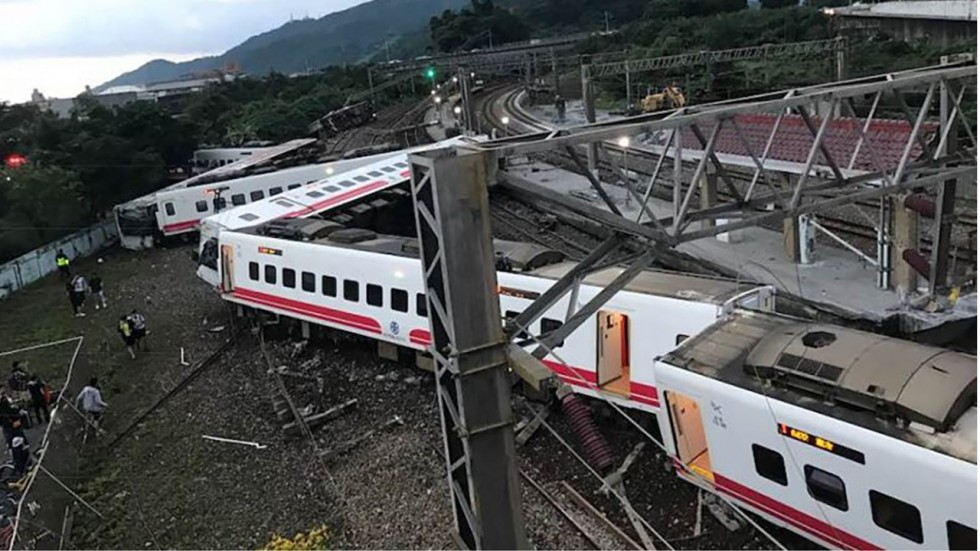 Express Train Derails and Crashes in Taiwan Killing at Least 18 Passengers