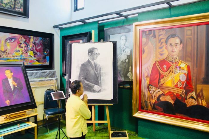 Chiang Rai Artist Suwit Jaipom Unveils Portrait Commemorating His Majesty the Late King Rama IX