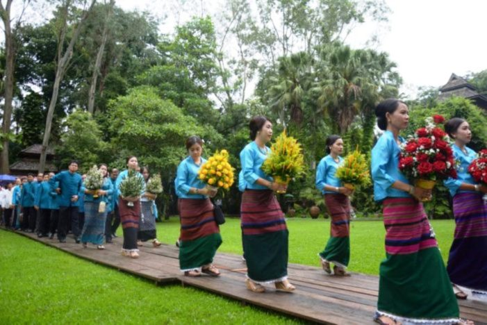 Chiang Rai Holds Walking Ceremony Honoring Princess Mother of the Late King Bhumibol Adulyadej
