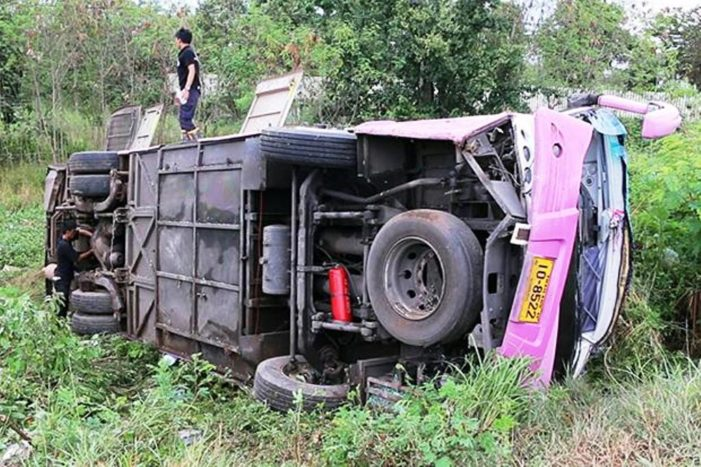 Passenger Bus Crashes in Northeastern Thailand, Killing One Passenger, Injuring 29 Others