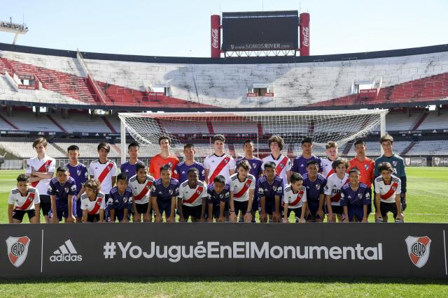 Twelve Wild Boars' Play Friendly at River Plate's Monumental Stadium in Buenos Aires, Argentina