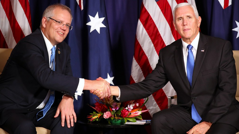U.S. , Australian Join Forces to Develop New Pacific Naval Base