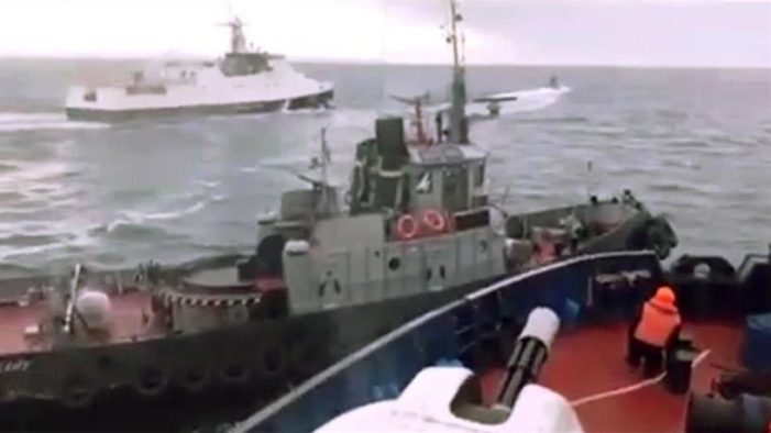 Russia Attacks Three Ukrainian Ships in the Kerch Strait