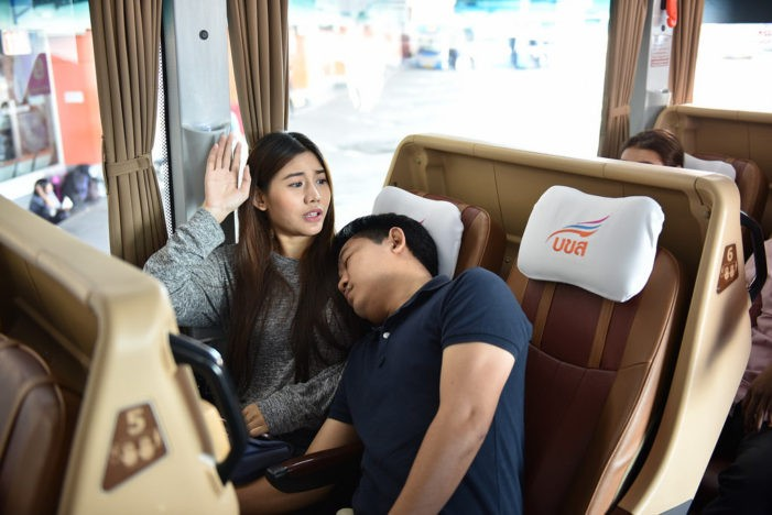 Thai Bus Attendant Trained in Prevention of Sexual Harassment of Public Buses