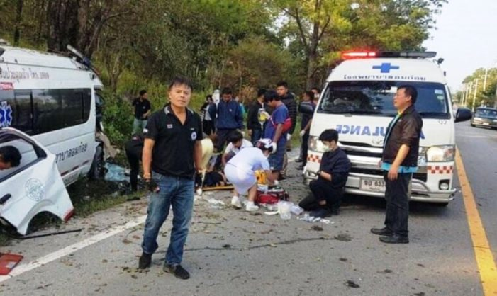 Chiang Mai Ambulance Crashes into Motorcyclist, Nurse and Rider Killed