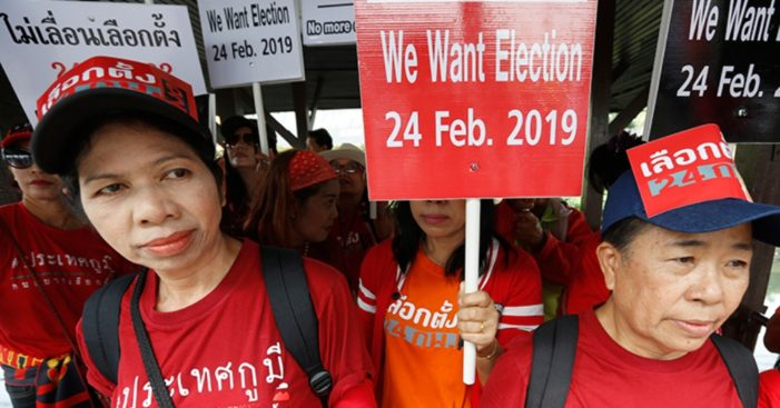 Thai Junta Sets Election Date and Lifts Ban on Political Campaigning