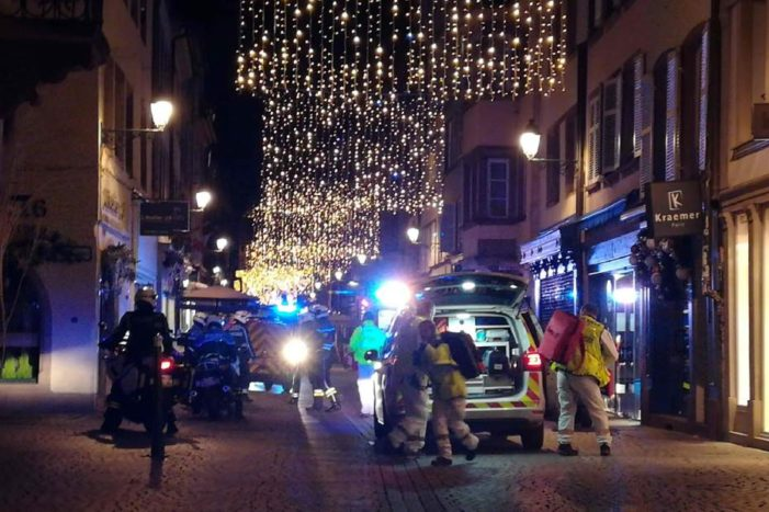 Suspected Extremest Opens Fire on Christmas Market in Strasbourg France, Two Dead, Eleven Wounded