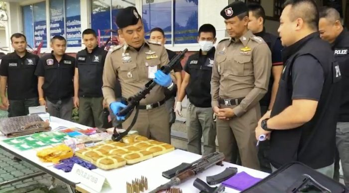 Police Seize Assault Rifles, Cash and Meth Pills in Southern Thailand