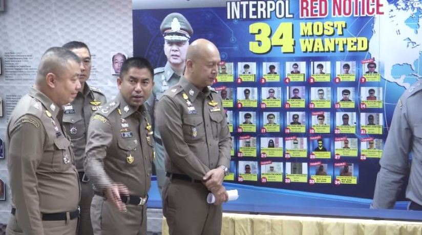 Thai Police Task Force Arrests 28 Foreign Criminals Listed on Interpol Red Notices