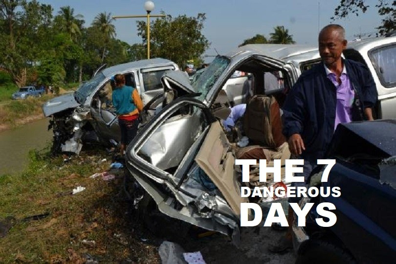 """The Final Tally of Thailand's """"Seven Dangerous Days"""" Leaves 463 Dead, 3,791 Accidents and 3,892 People Injured"""