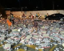 80,000 Beer Cans Mysteriously Vanish after a Beer Truck Overturns in Phuket