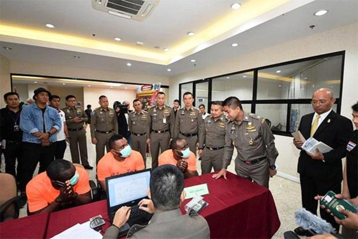 Five African Men Apprehended by Thai Immigration for Visa Violations