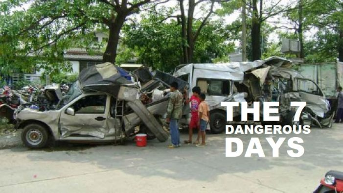 "410 Dead, 3,516 injuries and 3,425 Accidents as of Day Six of Thailand's ""Seven Dangerous Days"""