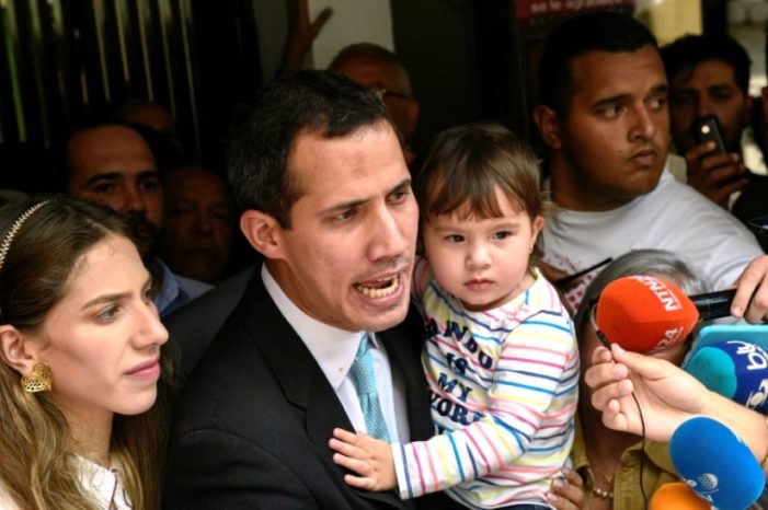 Venezuela's Maduro Sends Government Thugs to Intimidate Opposition leader Juan Guaido's Wife and Children