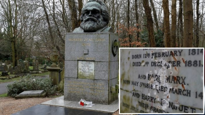 Tomb of German Philosopher and the Father of Socialism Karl Marx, Vandalized in London