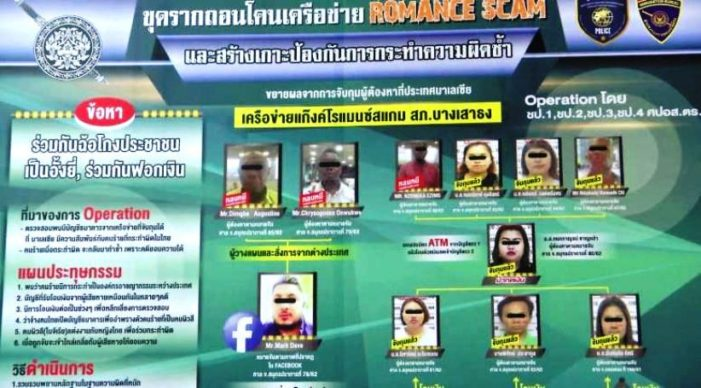 Five Thai and Nigerian Busted in Online Romance Scam