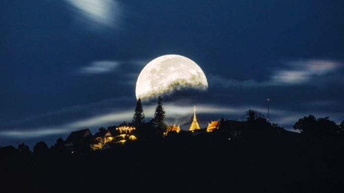 Super Full Moon Will be Visible in Chiang Rai Feb 19th, 2019
