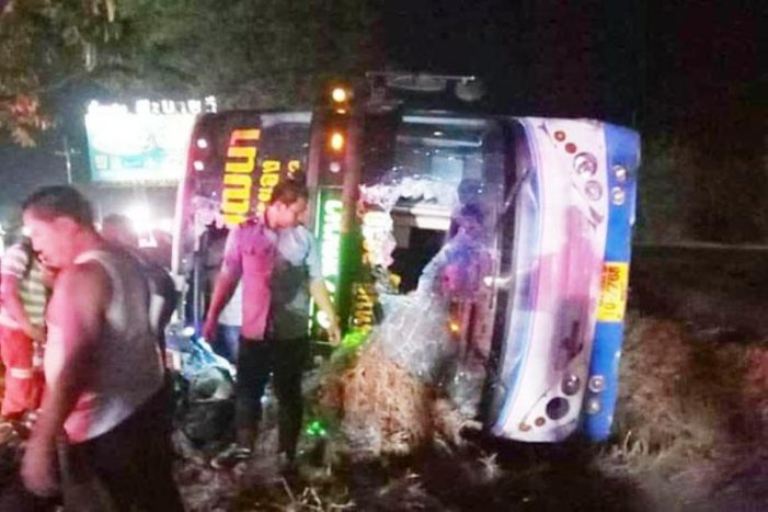 Thirty-One Passengers Injured After Passenger Bus Crashes in Northeastern Thailand