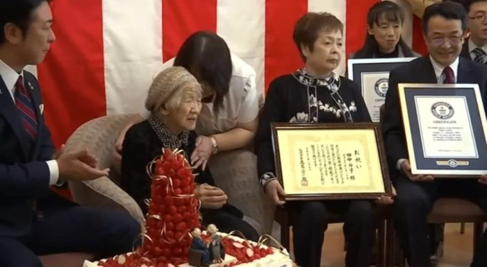 116 Year-Old Japanese Woman Honored as World's Oldest Living Person by Guinness World Records