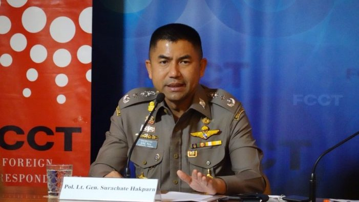 Thailand's Highest-Profile Policeman Lt Gen Surachate Hakparn Sidelined to Inactive Post