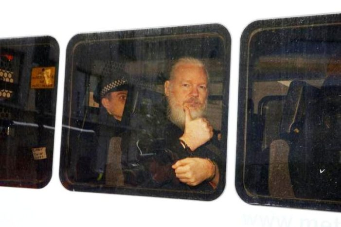 Julian Assange WikiLeaks Founder Dragged Out of Ecuador's Embassy in London and Arrested