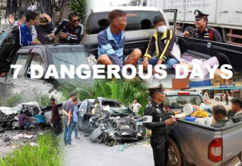 First Day of Songkran Road Toll – 468 Traffic Accidents, 46 Deaths and 482 Injured