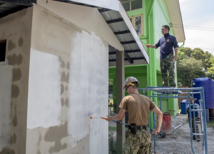 Thailand, US Armies Build School Under Pacific Partnership Project 2019