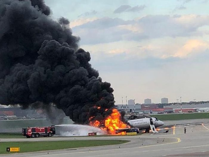 41 People Dead After Russian Airliner Bursts into Flames Upon Landing