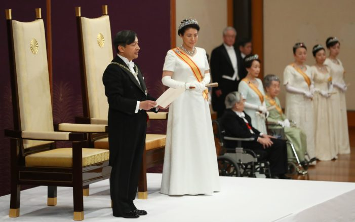 Emperor Naruhito Ascends to the Thrown in Japan