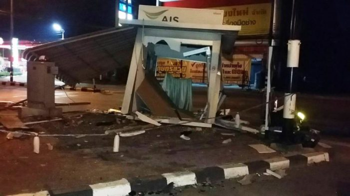VIDEO: Driver Fined Bt300,000 After Crashing Through Police Booth in Chiang Mai