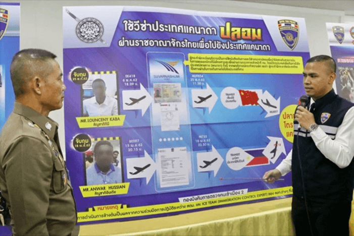 Passengers Headed for Canada Arrested at Thailand's Suvarnabhumi Airport With Fake (eTA) Entry Documents