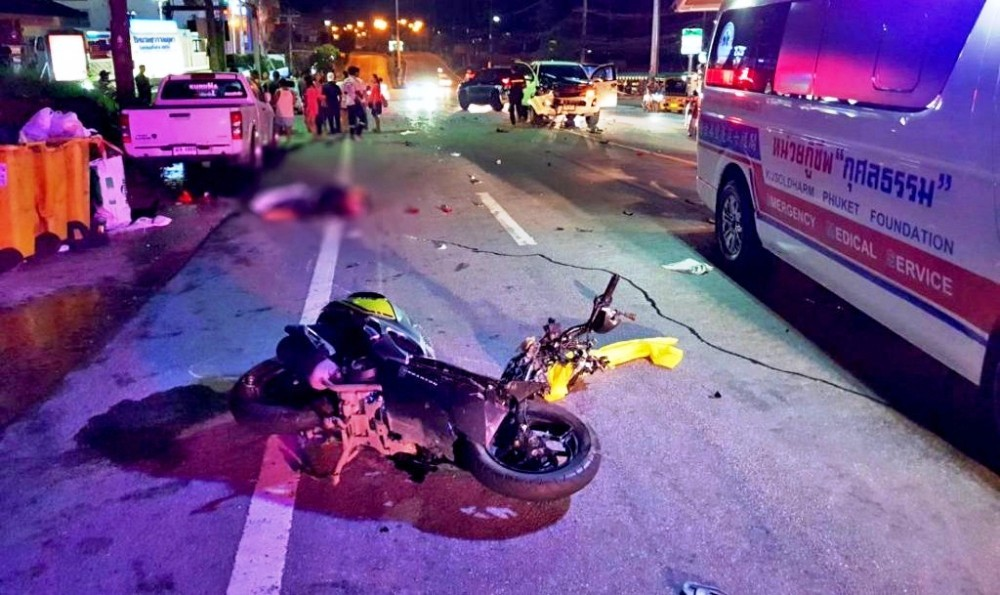 58 Year-old German Tourist Dies from Motorcycle Accident in Phuket Thailand