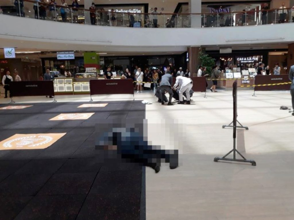 Shoppers Horrified When Man Falls to His Death at Bangkok's Central World Shopping Centre