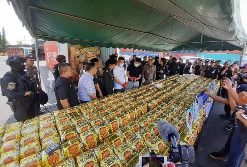 Police in Thailand Seize 985kg of Crystal Meth 'Ice' Bound for the Philippines