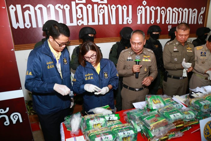 Chiang Rai Man Arrested With 105.9kg of Crystal Meth in Lamphun Province