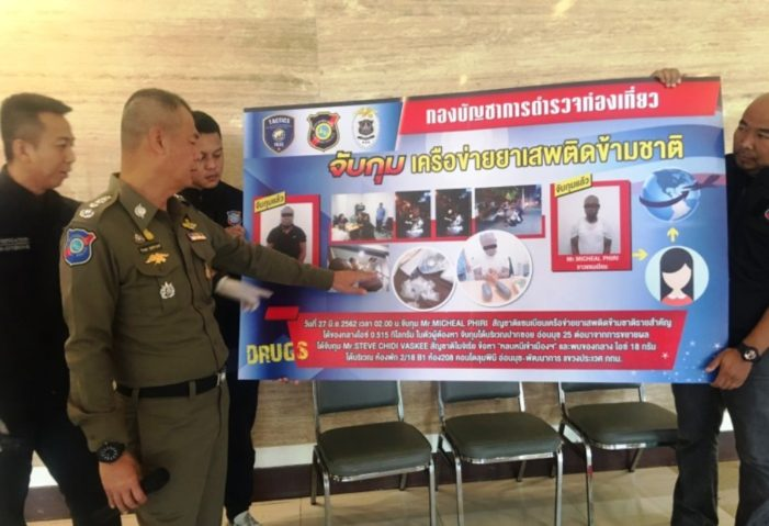 """Two African Men Busted for Dealing Crystal Methamphetamine """"ICE"""" in Bangkok"""