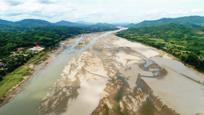 Massive Dropping of Mekong River Water Levels Sparks Alarm