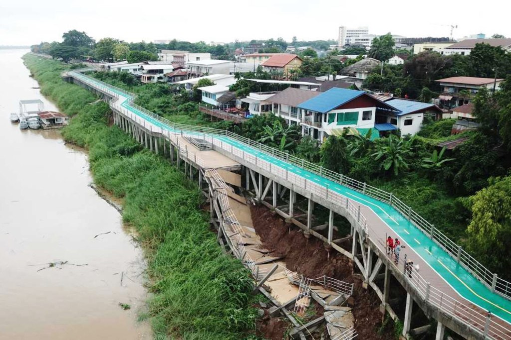 Newly Constructed Mekong River Bicycle Pathway Deemed Unsafe