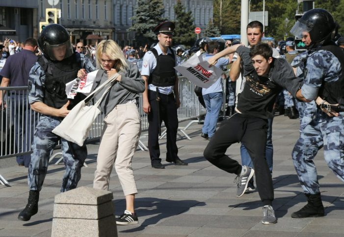More than 1,300 Russian Protestors Arrested in Moscow