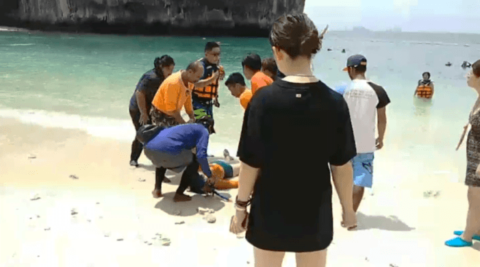 Chinese Tourist Safely Rescued From Drowning in Southern Thailand