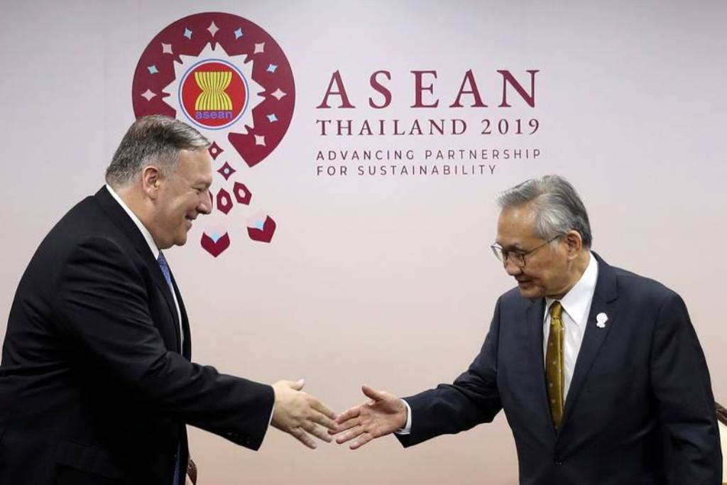 US Secretary of State Pompeo Arrives in Thailand for ASEAN Meeting