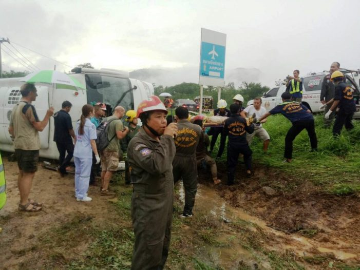 European Tourists Injured After Bus Crashes in Northern Thailand