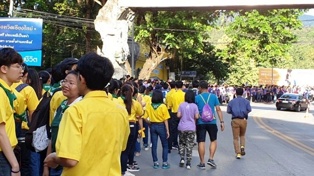 Chiang Mai University Students Converge on Doi Suthep for Annual Trek