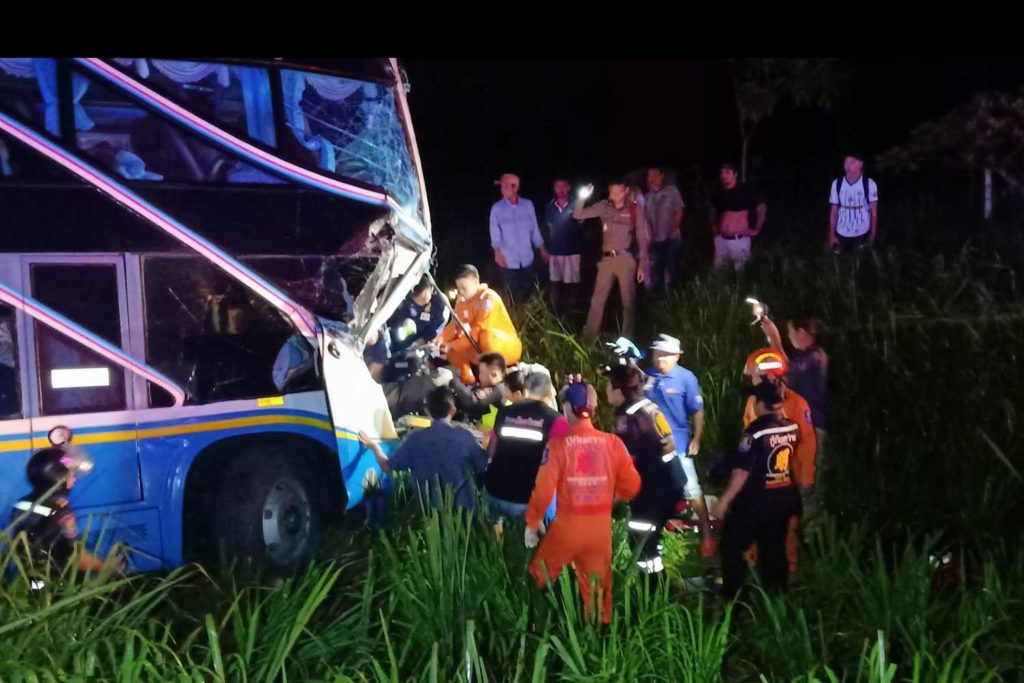 Bus Driver Killed , 33 Passengers Injured After Rear-Ending Freight Truck