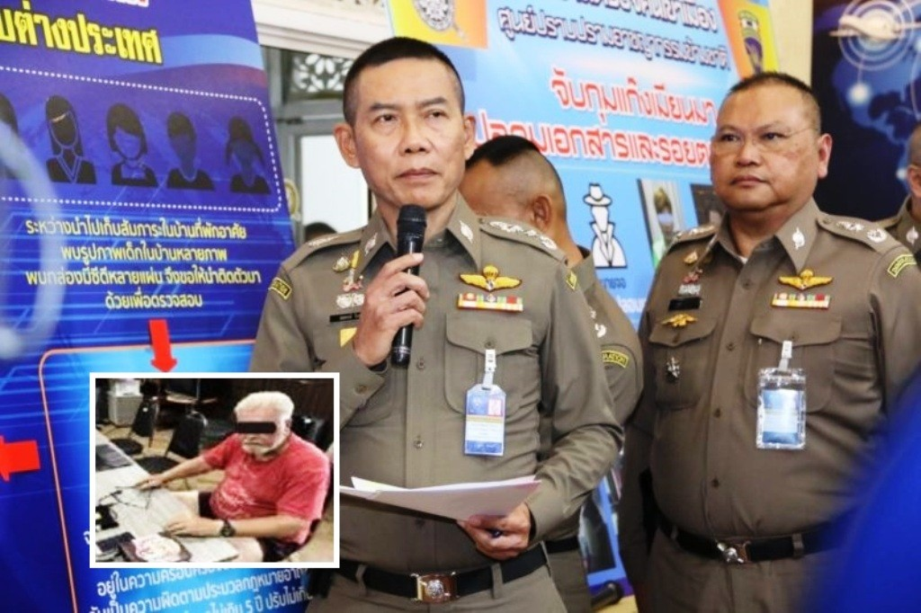 Thai Police Arrest 77 Year-Old American on Child Pornography Charges