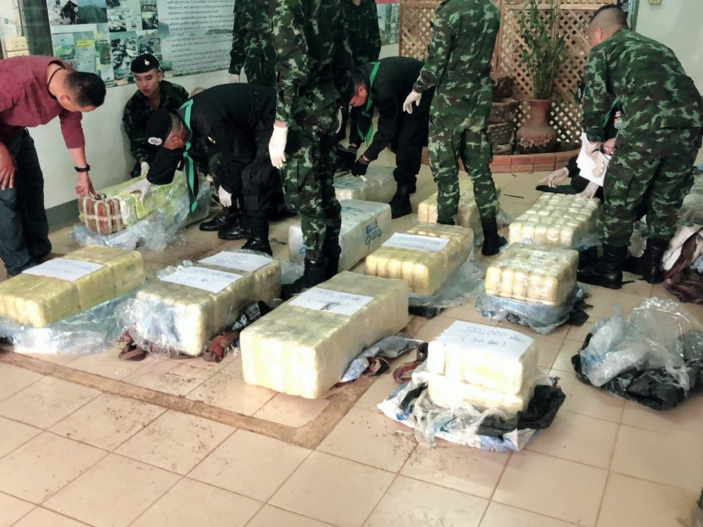 3 Million Meth Pills, 40 Kilograms of crystal Meth Seized in Chiang Rai