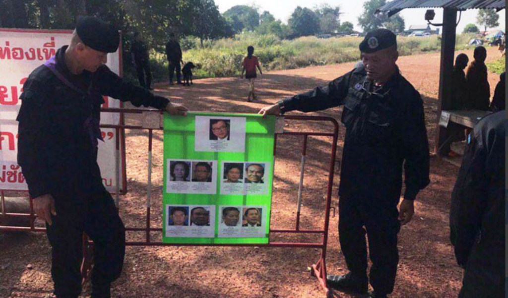 Cambodia Displays Wanted Posters on Sam Rainsy Along Border